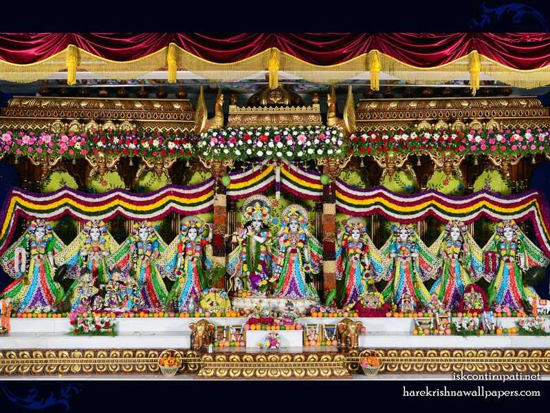 Sri Sri Radha Govinda with Ashtasakhi Wallpaper (007)
