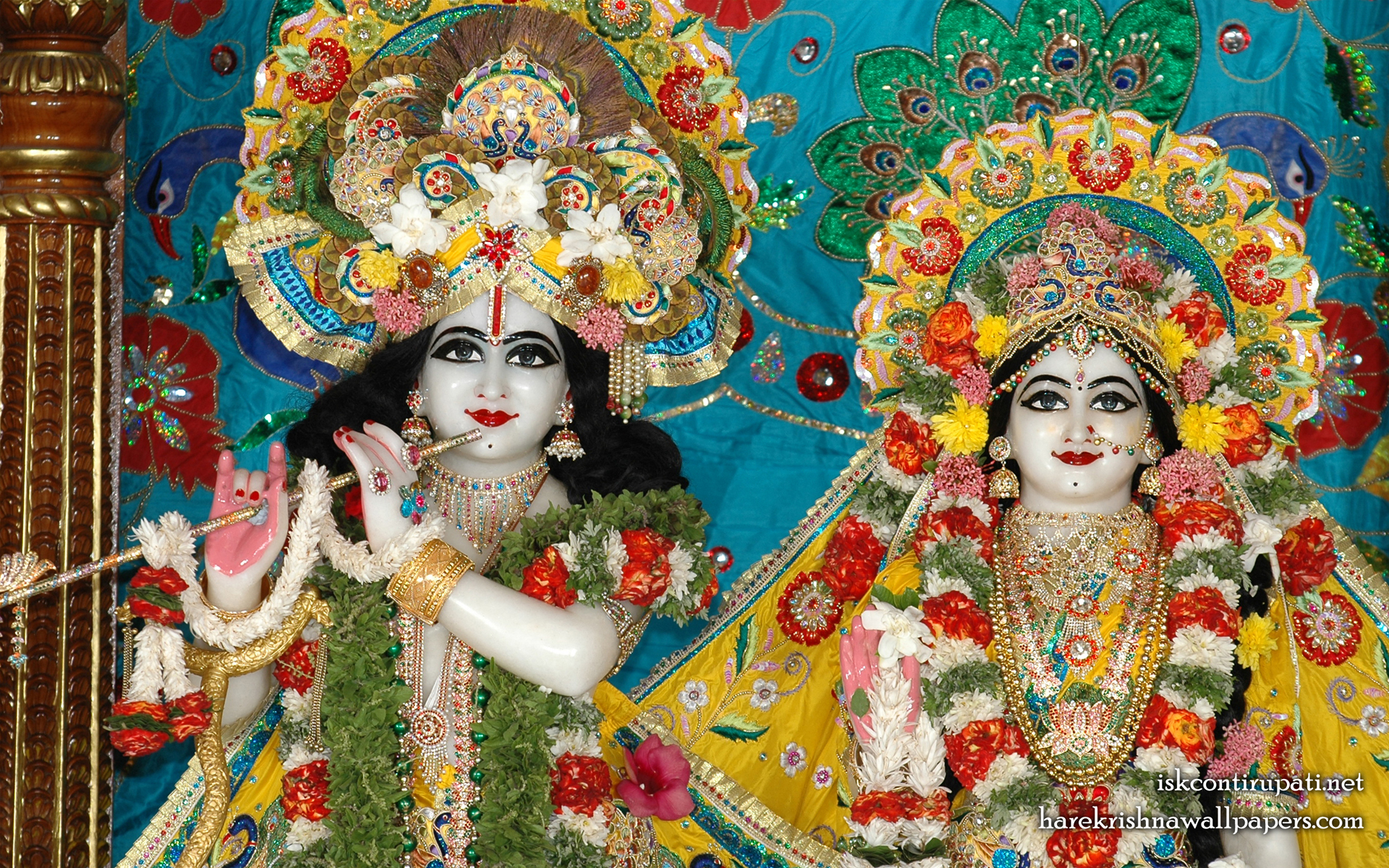 Sri Sri Radha Govinda Close up Wallpaper (009) Size 1920x1200 Download