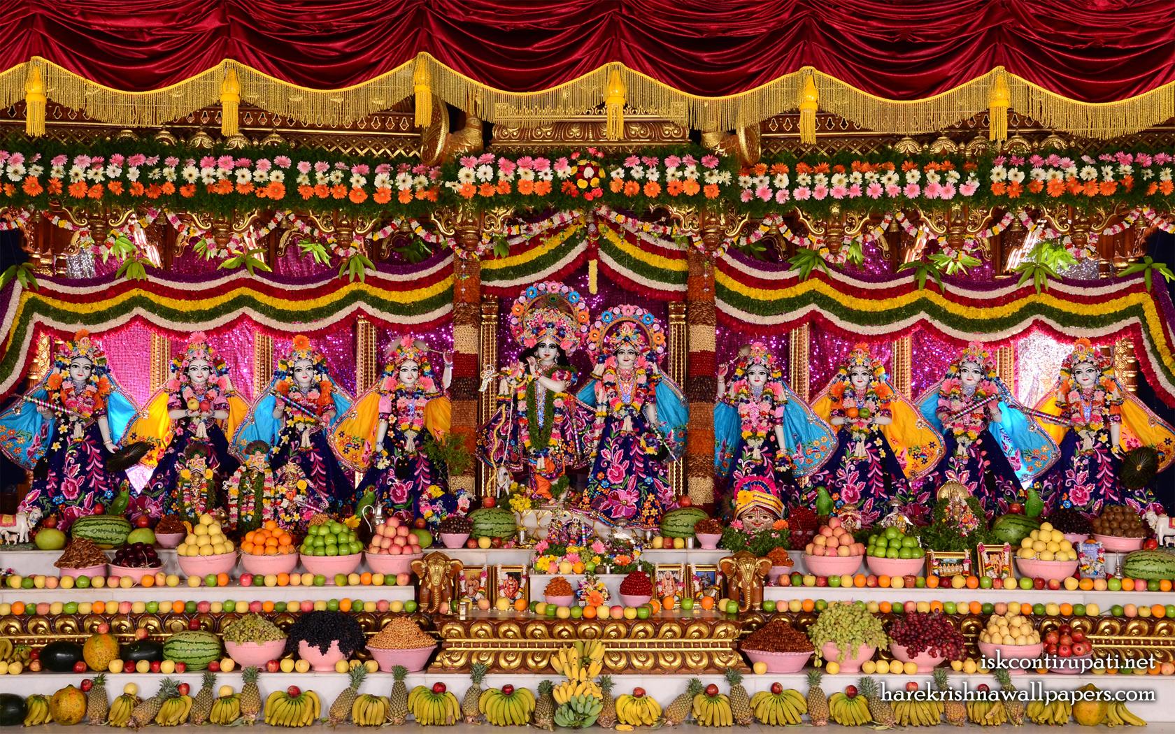 Sri Sri Radha Govinda with Ashtasakhi Wallpaper (009) Size 1680x1050 Download