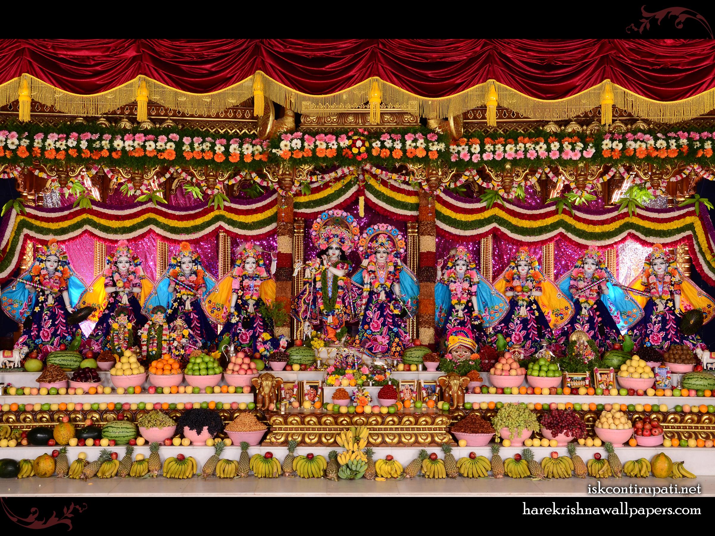 Sri Sri Radha Govinda with Ashtasakhi Wallpaper (009) Size 2400x1800 Download