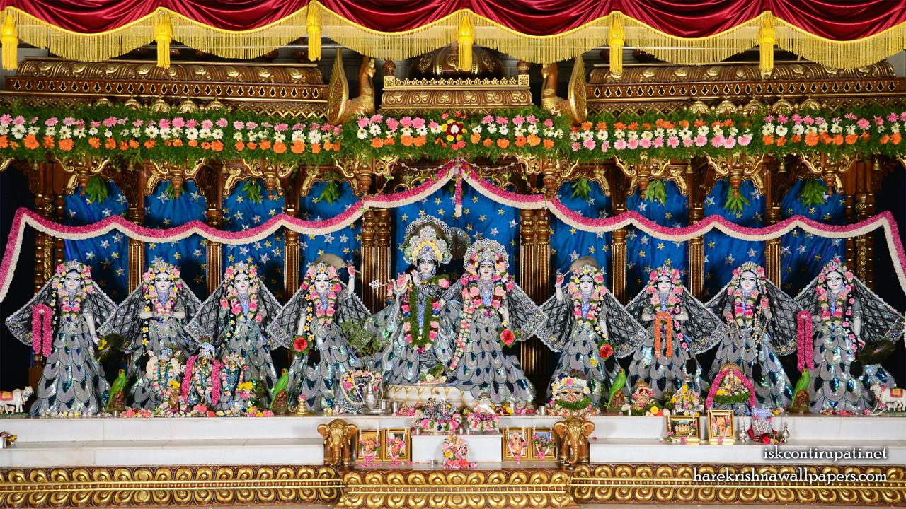 Sri Sri Radha Govinda with Ashtasakhi Wallpaper (010) Size 1280x720 Download