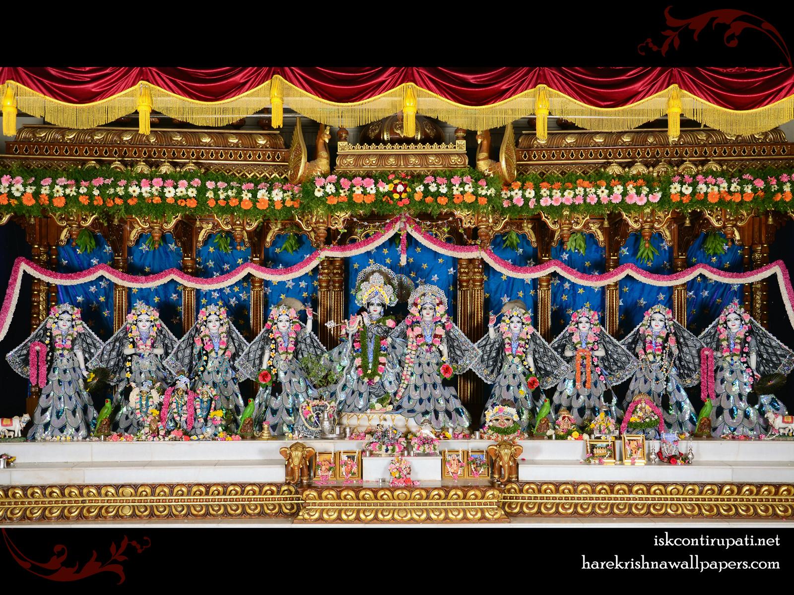 Sri Sri Radha Govinda with Ashtasakhi Wallpaper (010) Size1600x1200 Download