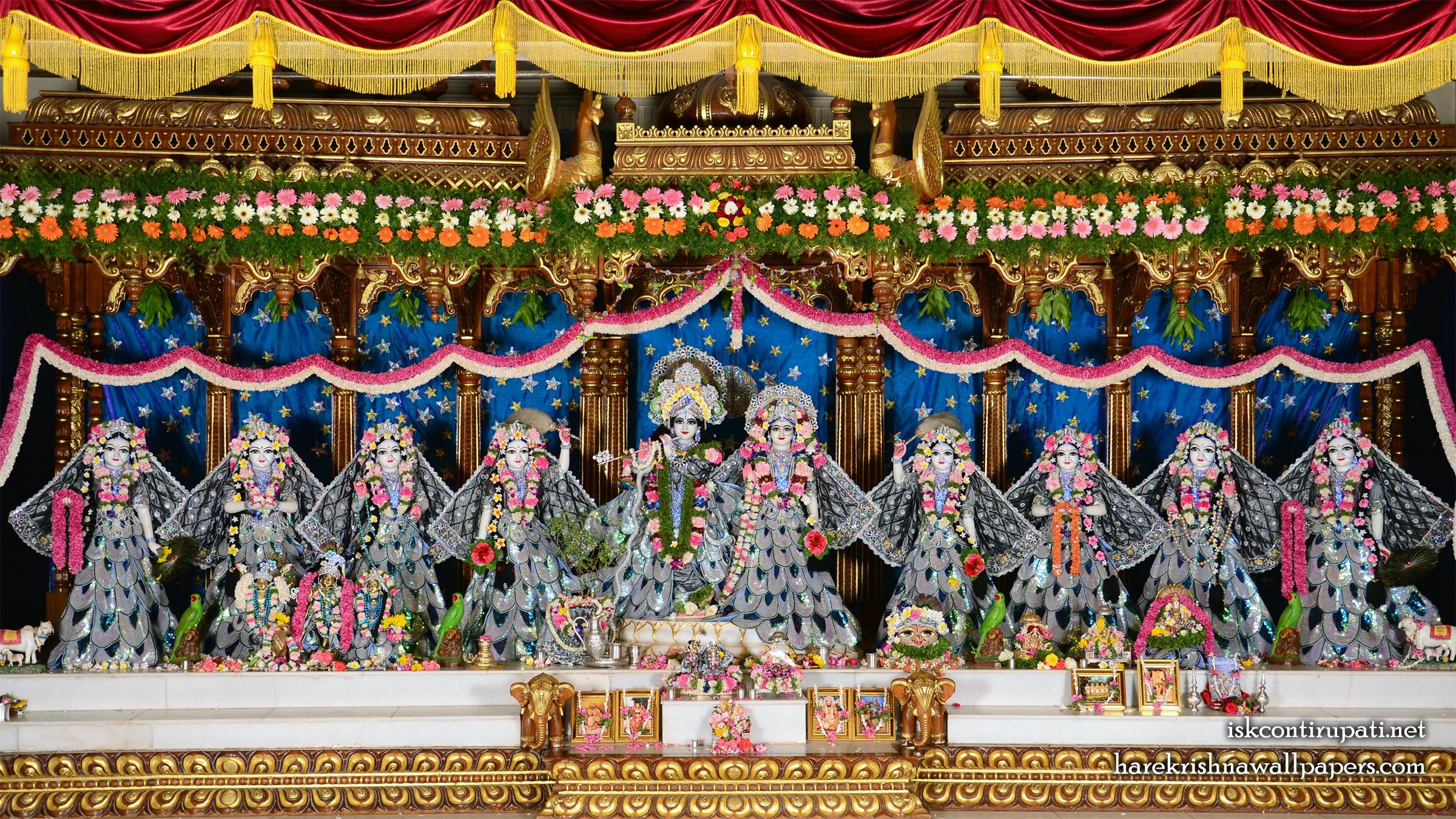 Sri Sri Radha Govinda with Ashtasakhi Wallpaper (010) Size 2400x1350 Download