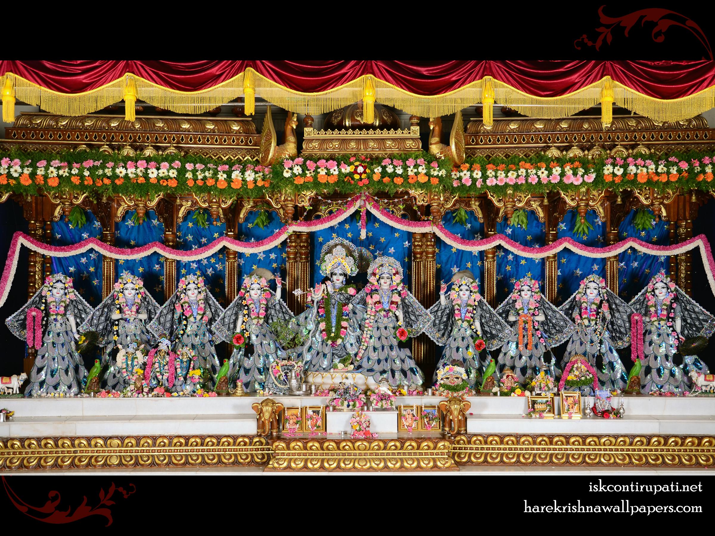 Sri Sri Radha Govinda with Ashtasakhi Wallpaper (010) Size 2400x1800 Download