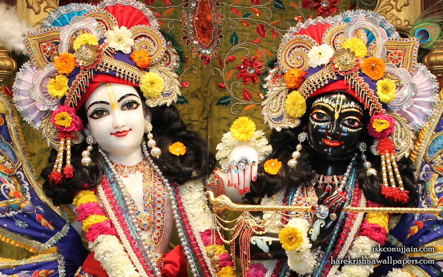 Sri Sri Krishna Balaram Close up Wallpaper (001) Size 1440x900 Download