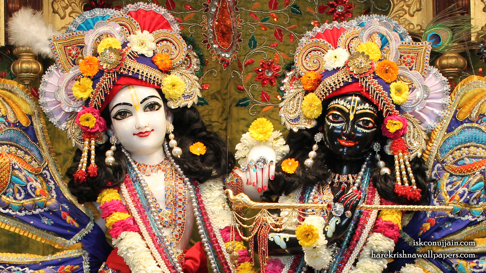 Sri Sri Krishna Balaram Close up Wallpaper (001) Size 1600x900 Download