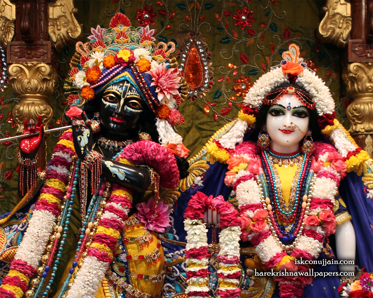Sri Sri Radha Madanmohan Close up Wallpaper (001) Size 1280x1024 Download