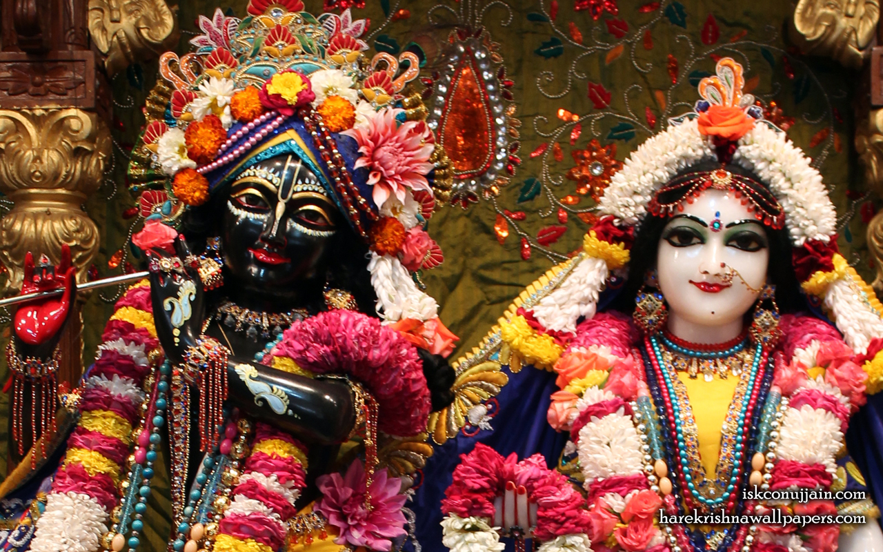 Sri Sri Radha Madanmohan Close up Wallpaper (001) Size 1280x800 Download