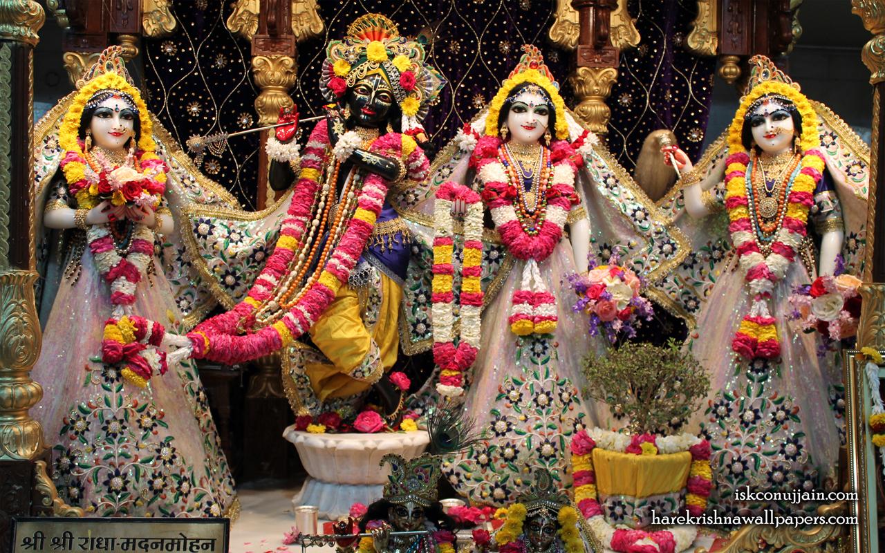 Sri Sri Radha Madanmohan Lalita Vishakha Wallpaper (001) Size 1280x800 Download