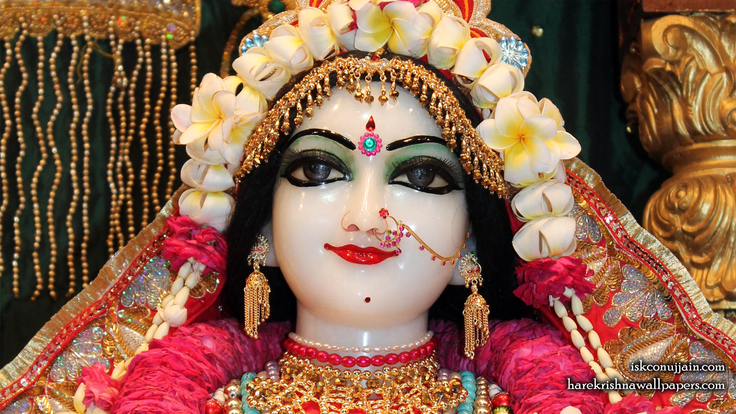 Sri Radha Close up Wallpaper (002) Size 2400x1350 Download