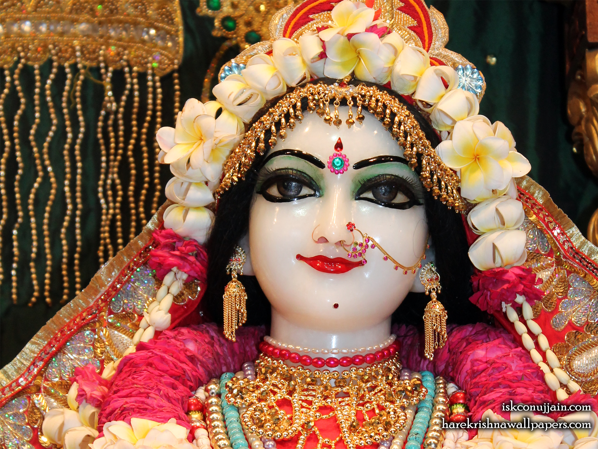 Sri Radha Close up Wallpaper (002) Size 2400x1800 Download