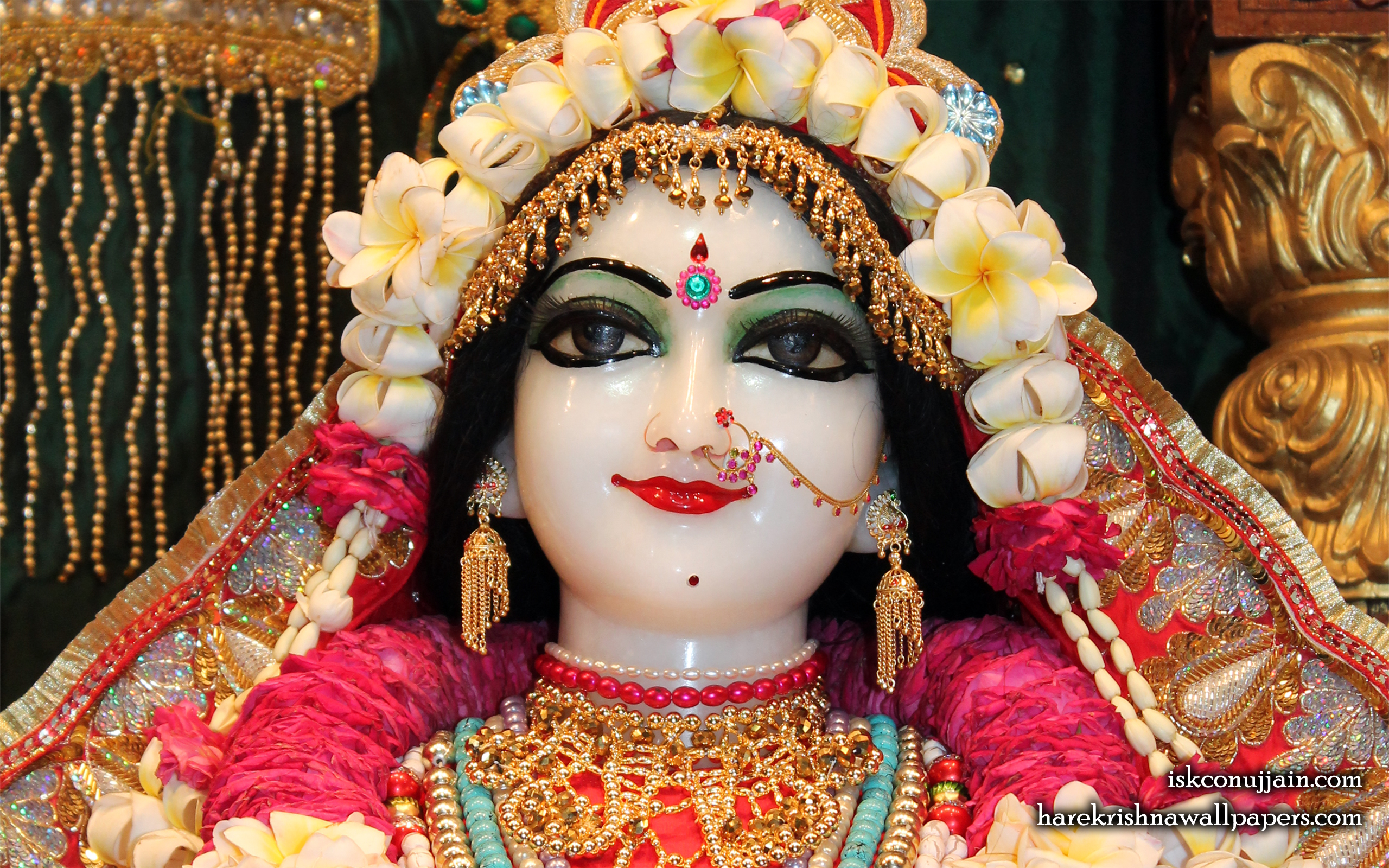 Sri Radha Close up Wallpaper (002) Size 2560x1600 Download