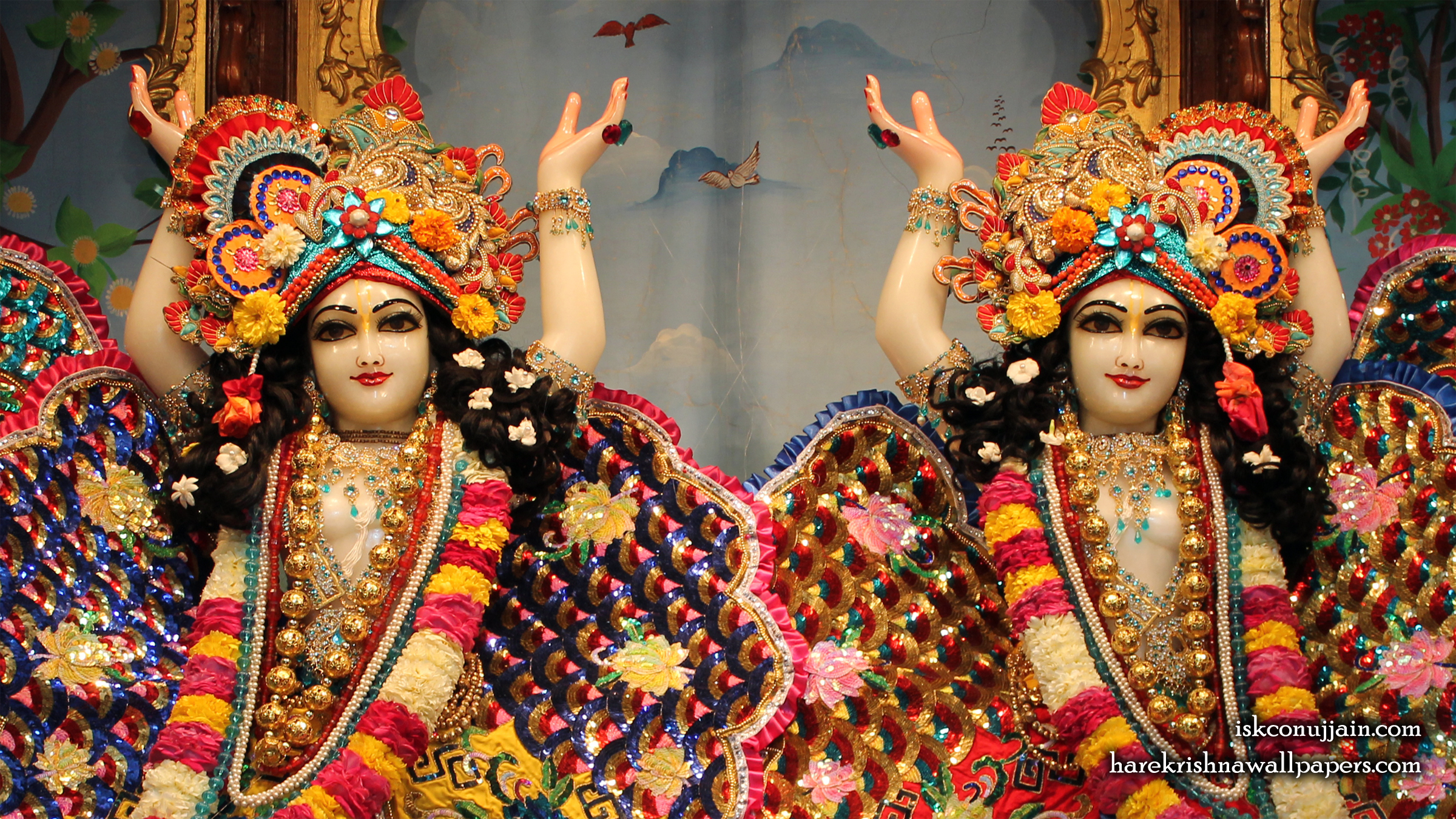 Sri Sri Gaura Nitai Close up Wallpaper (002) Size 2400x1350 Download
