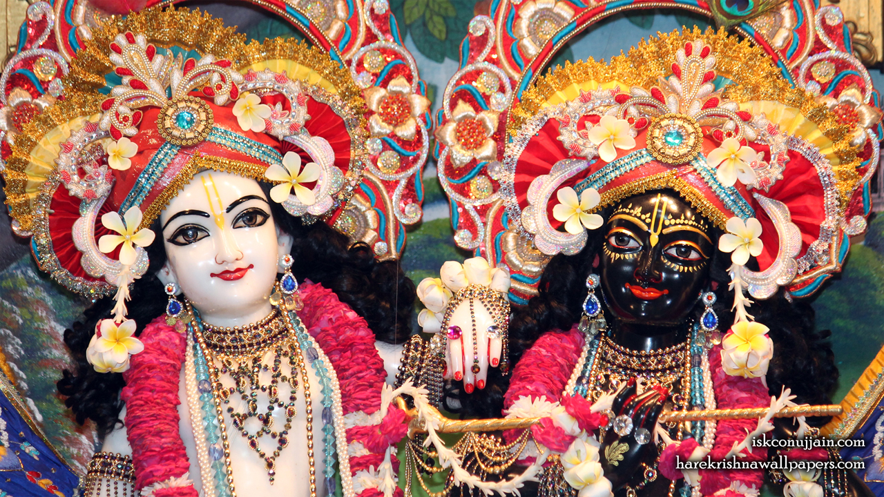 Sri Sri Krishna Balaram Close up Wallpaper (002) Size 1280x720 Download