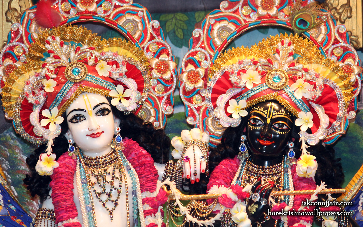 Sri Sri Krishna Balaram Close up Wallpaper (002) Size 1440x900 Download
