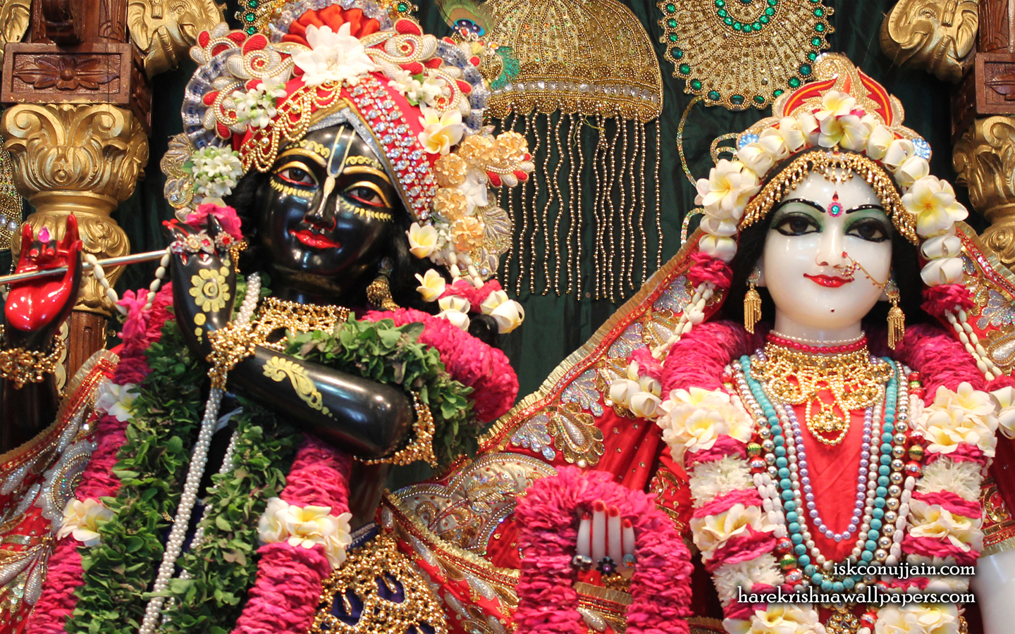 Sri Sri Radha Madanmohan Close up Wallpaper (002) Size 1440x900 Download