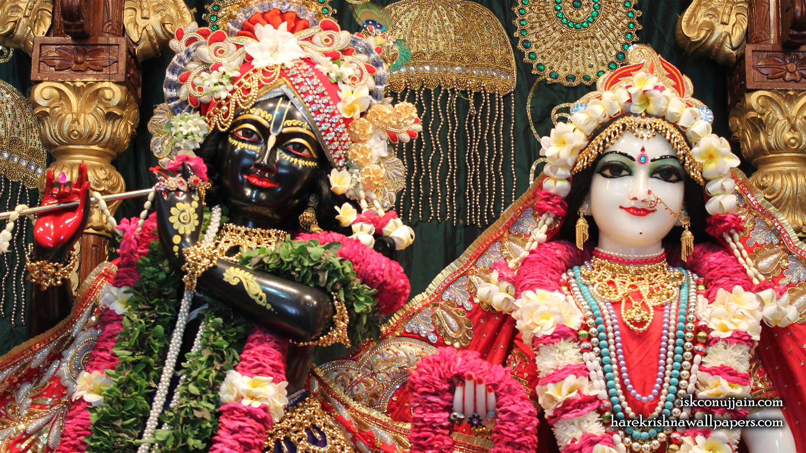 Sri Sri Radha Madanmohan Close up Wallpaper (002) Size 1600x900 Download