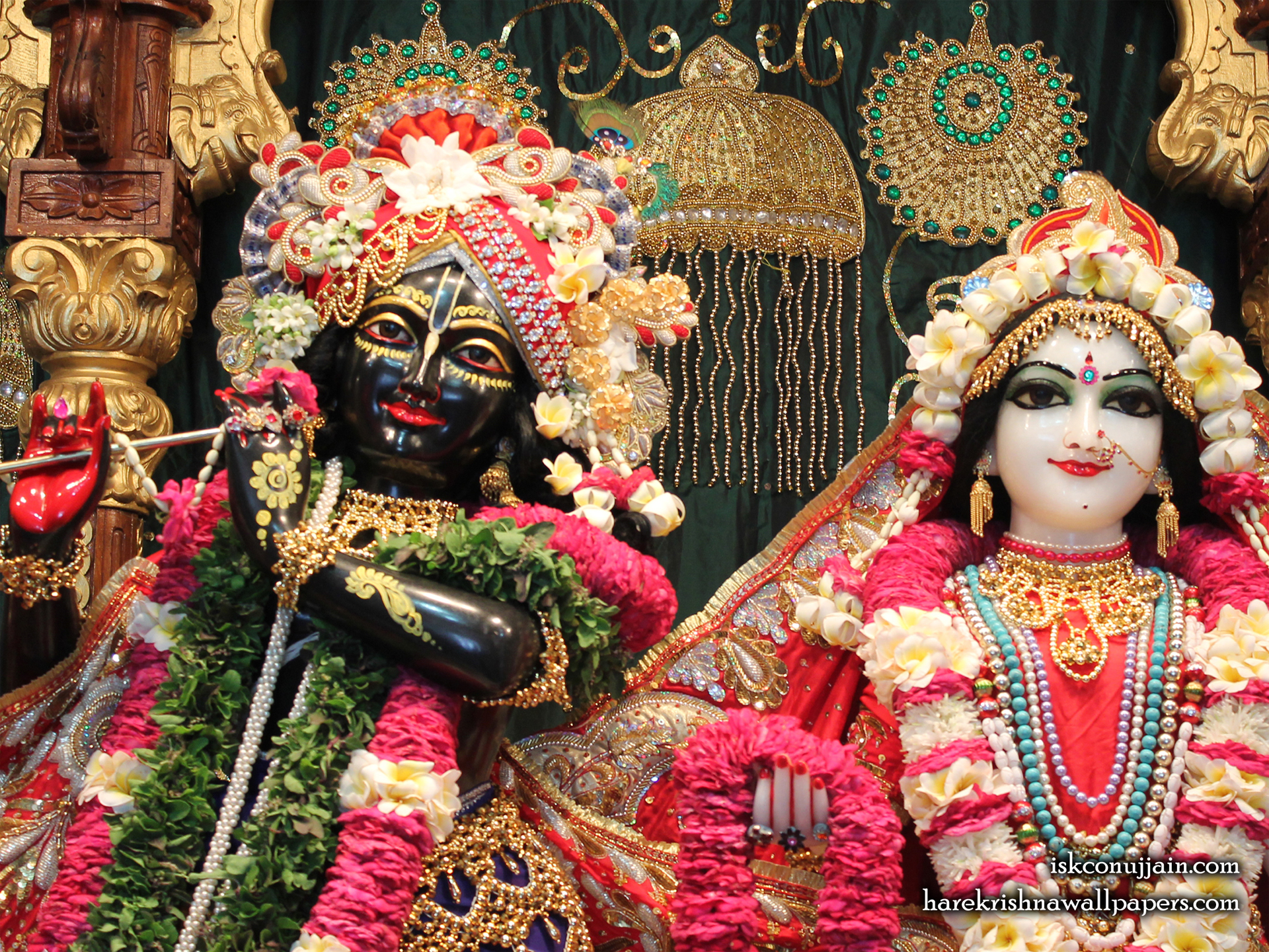 Sri Sri Radha Madanmohan Close up Wallpaper (002) Size 1920x1440 Download