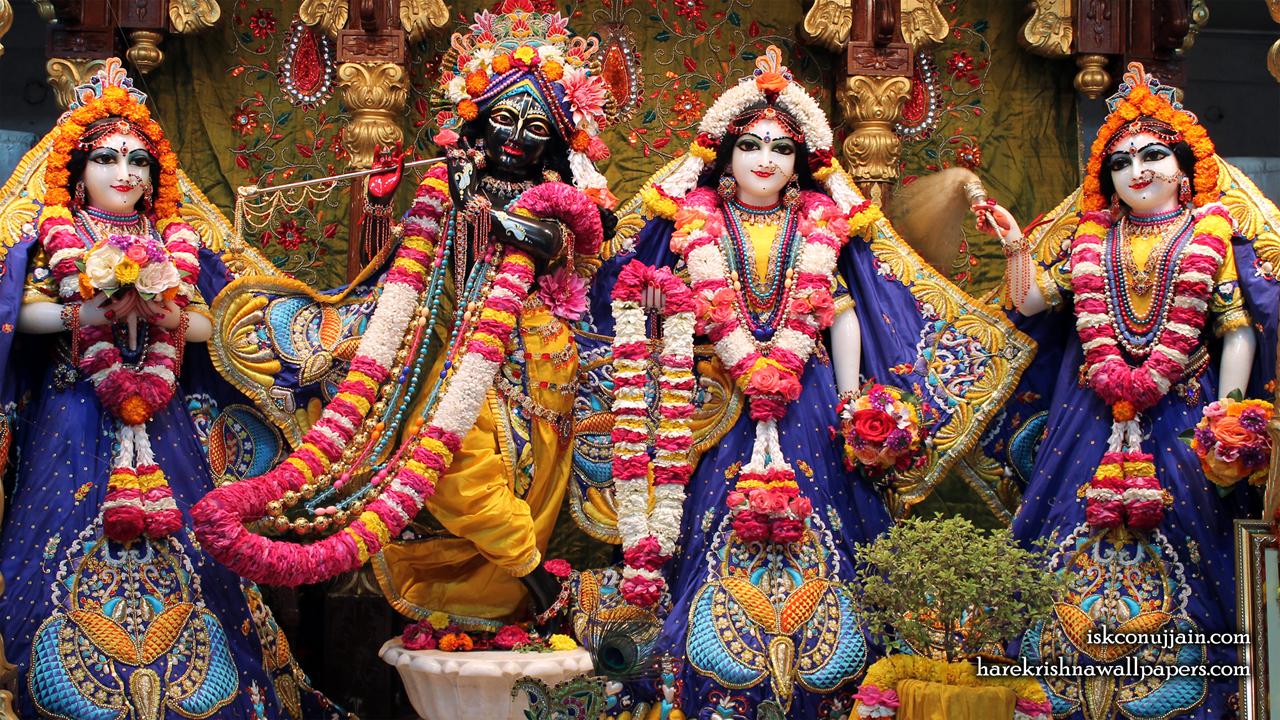 Sri Sri Radha Madanmohan Lalita Vishakha Wallpaper (002) Size 1280x720 Download