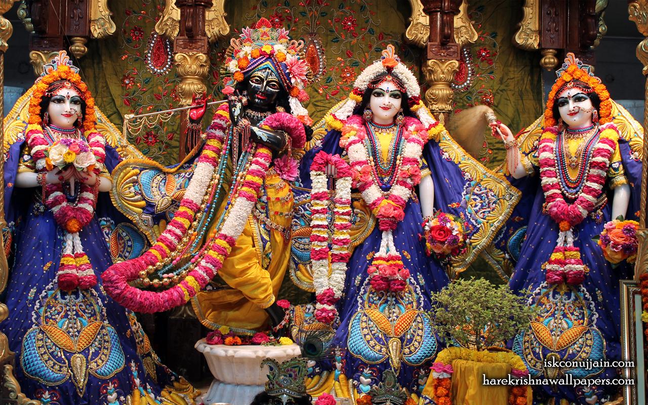 Sri Sri Radha Madanmohan Lalita Vishakha Wallpaper (002) Size 1280x800 Download
