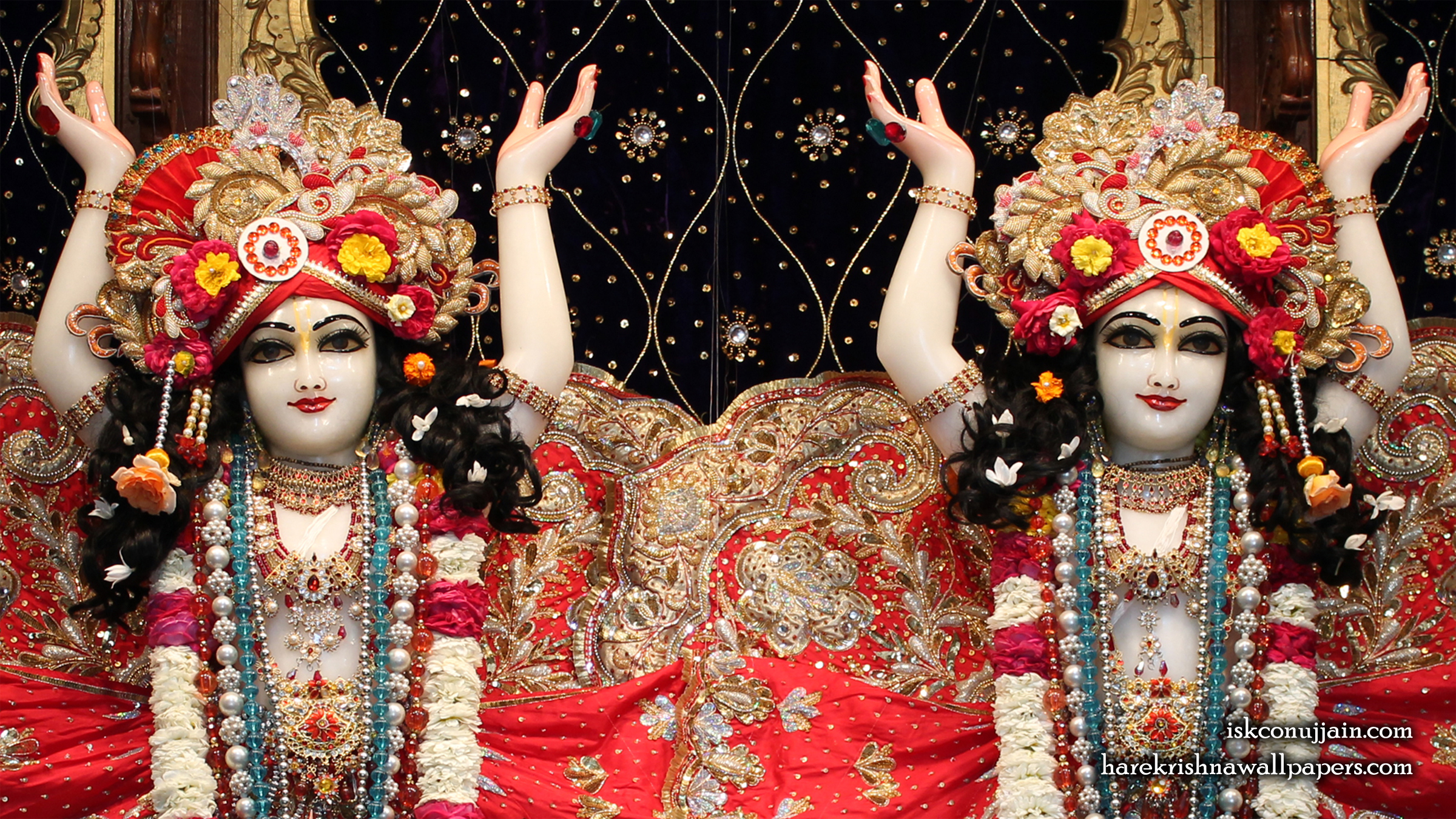 Sri Sri Gaura Nitai Close up Wallpaper (003) Size 2400x1350 Download