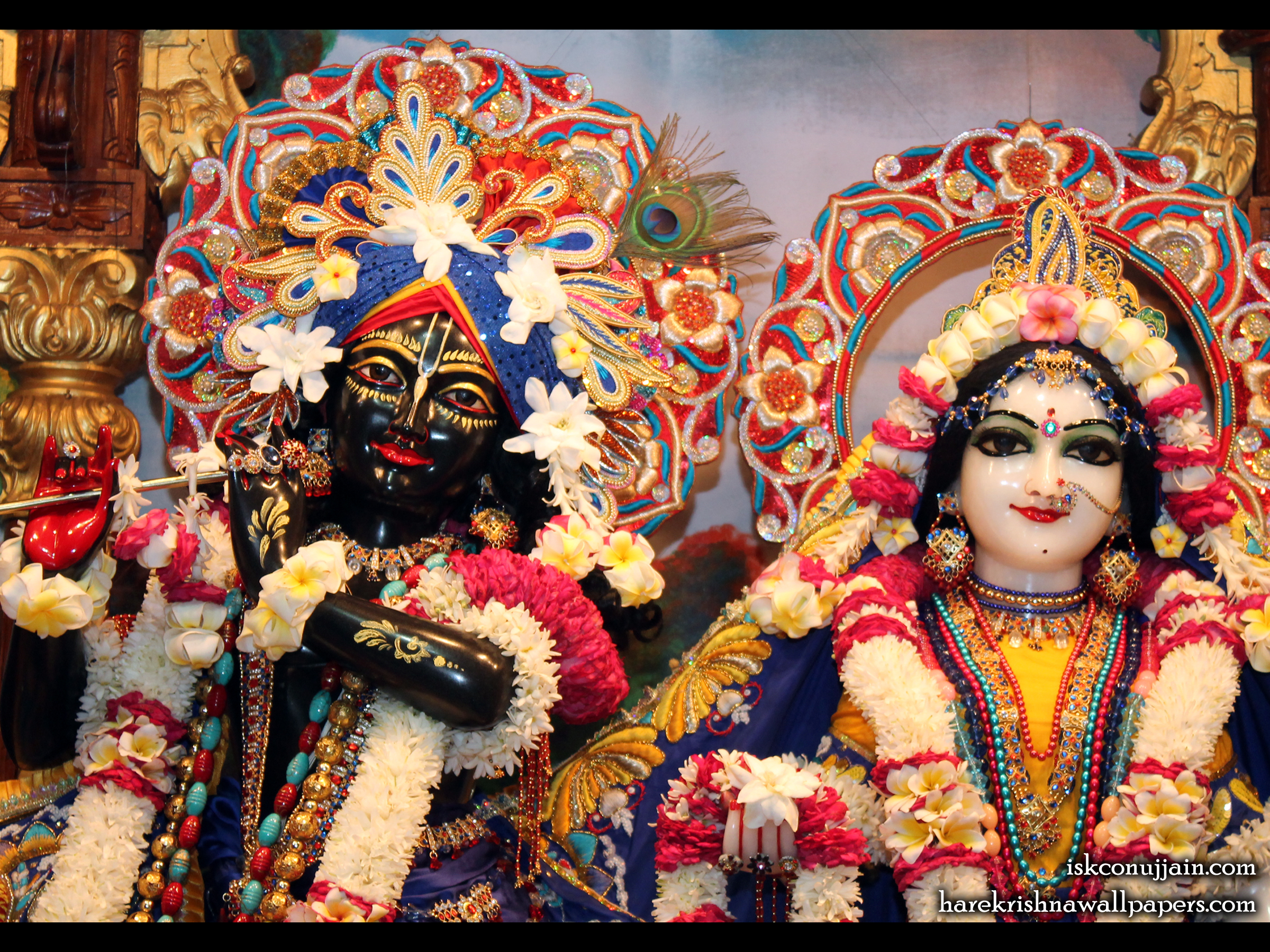 Sri Sri Radha Madanmohan Close up Wallpaper (003) Size 2400x1800 Download