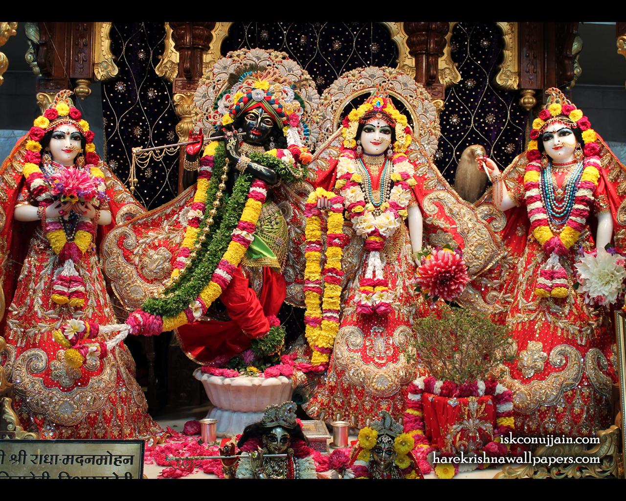 Sri Sri Radha Madanmohan Lalita Vishakha Wallpaper (003) Size 1280x1024 Download