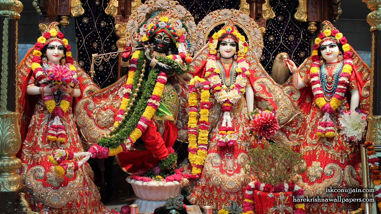 Sri Sri Radha Madanmohan Lalita Vishakha Wallpaper (003) Size 1280x720 Download