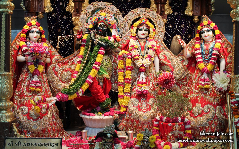 Sri Sri Radha Madanmohan Lalita Vishakha Wallpaper (003) Size 1440x900 Download