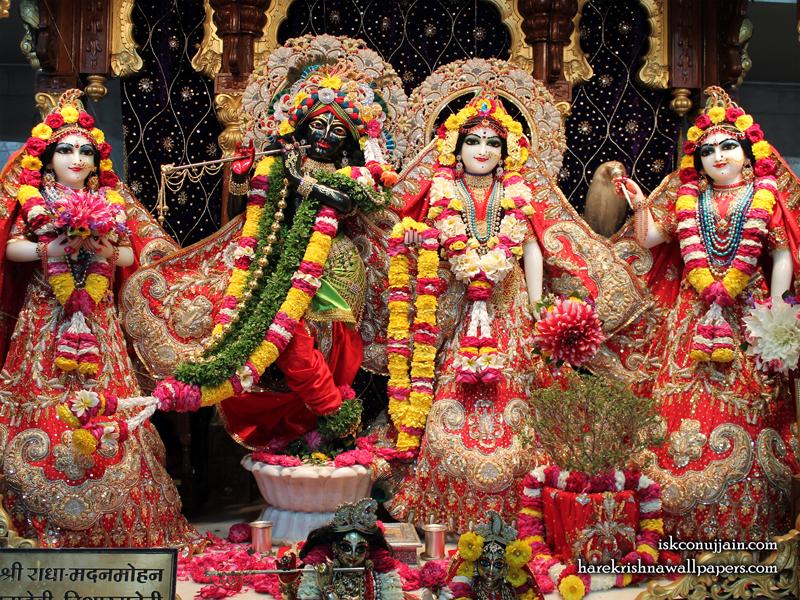 Sri Sri Radha Madanmohan Lalita Vishakha Wallpaper (003) Size 800x600 Download