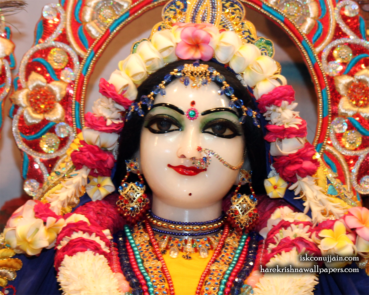 Sri Radha Close up Wallpaper (004) Size 1280x1024 Download