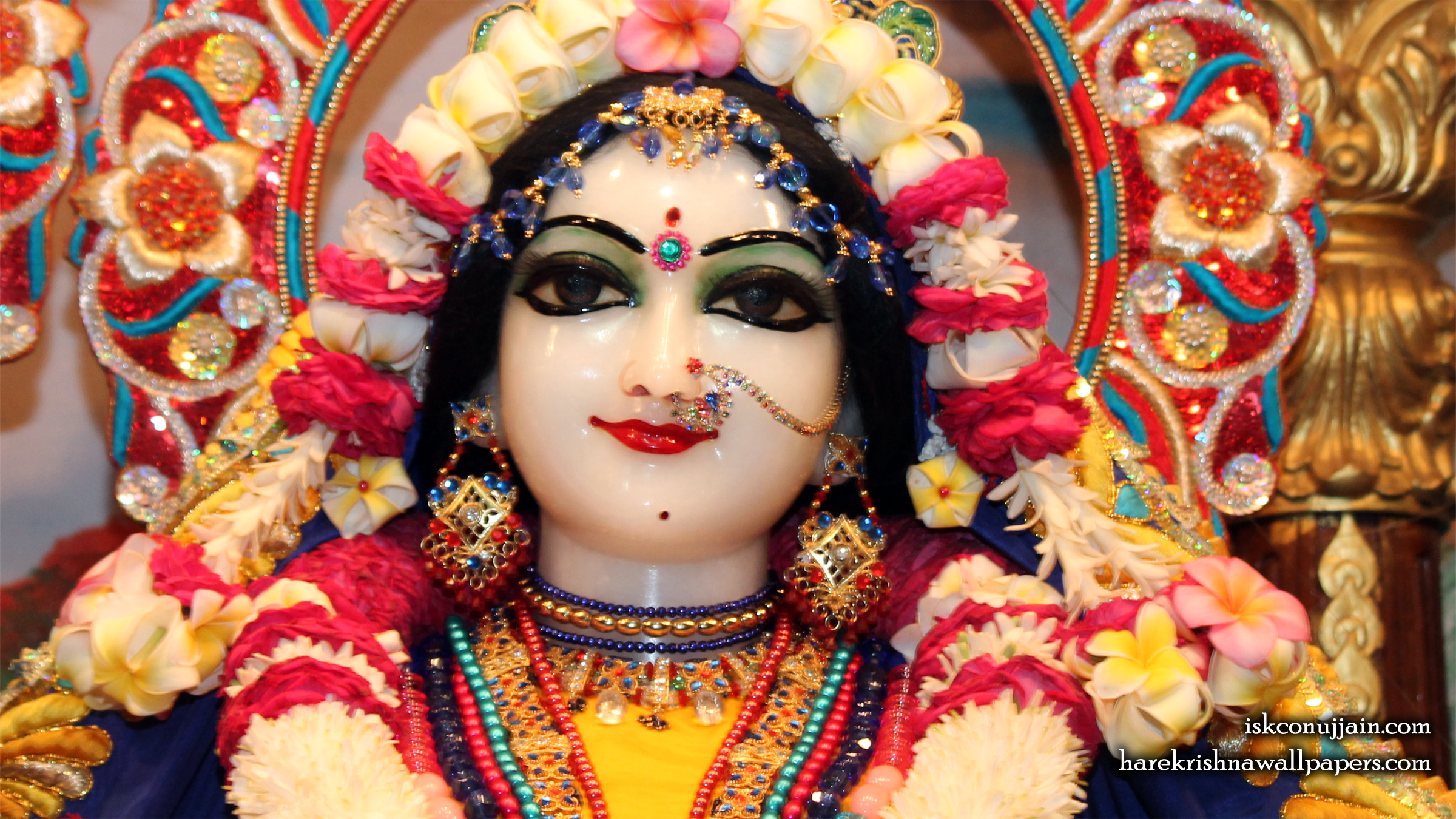 Sri Radha Close up Wallpaper (004) Size 2400x1350 Download