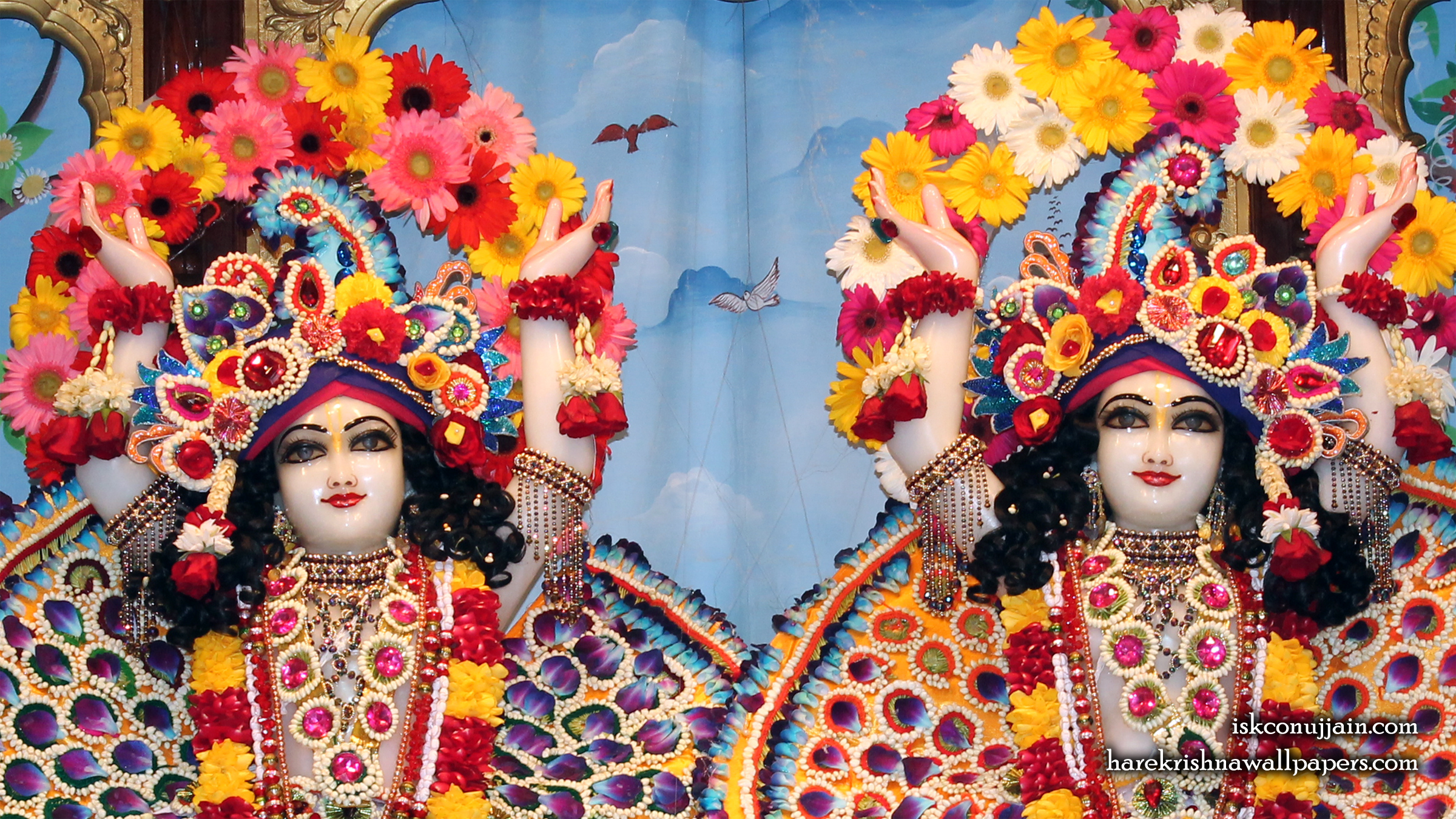 Sri Sri Gaura Nitai Close up Wallpaper (004) Size 2400x1350 Download