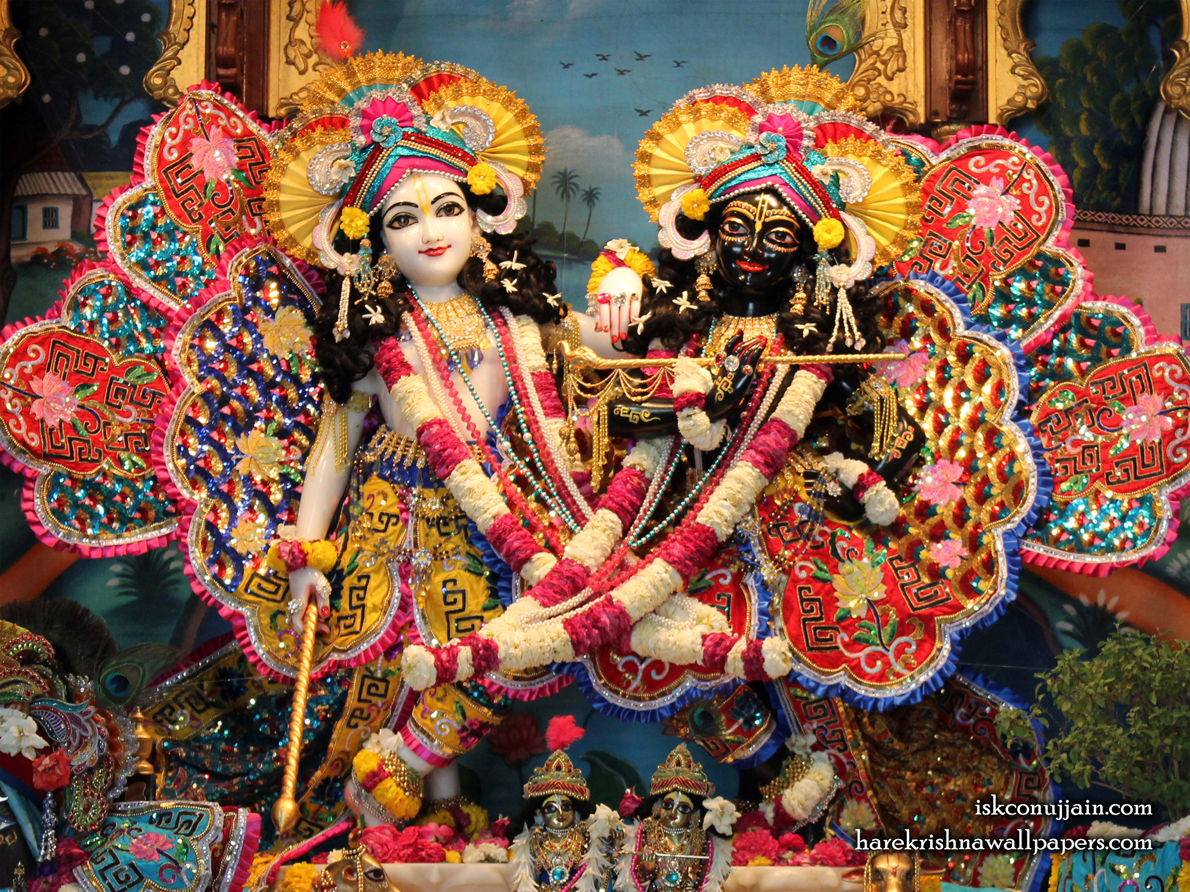 Sri Sri Krishna Balaram Wallpaper (004) Size 2400x1800 Download