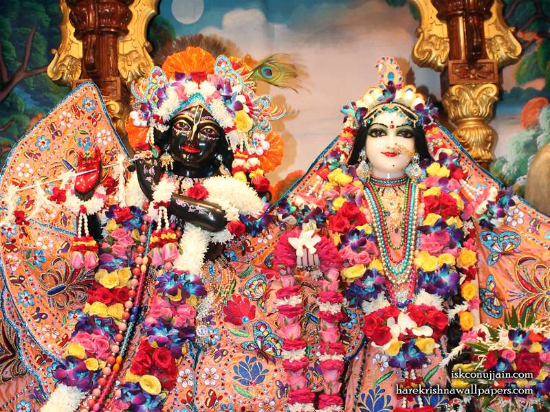 Sri Sri Radha Madanmohan Close up Wallpaper (004)