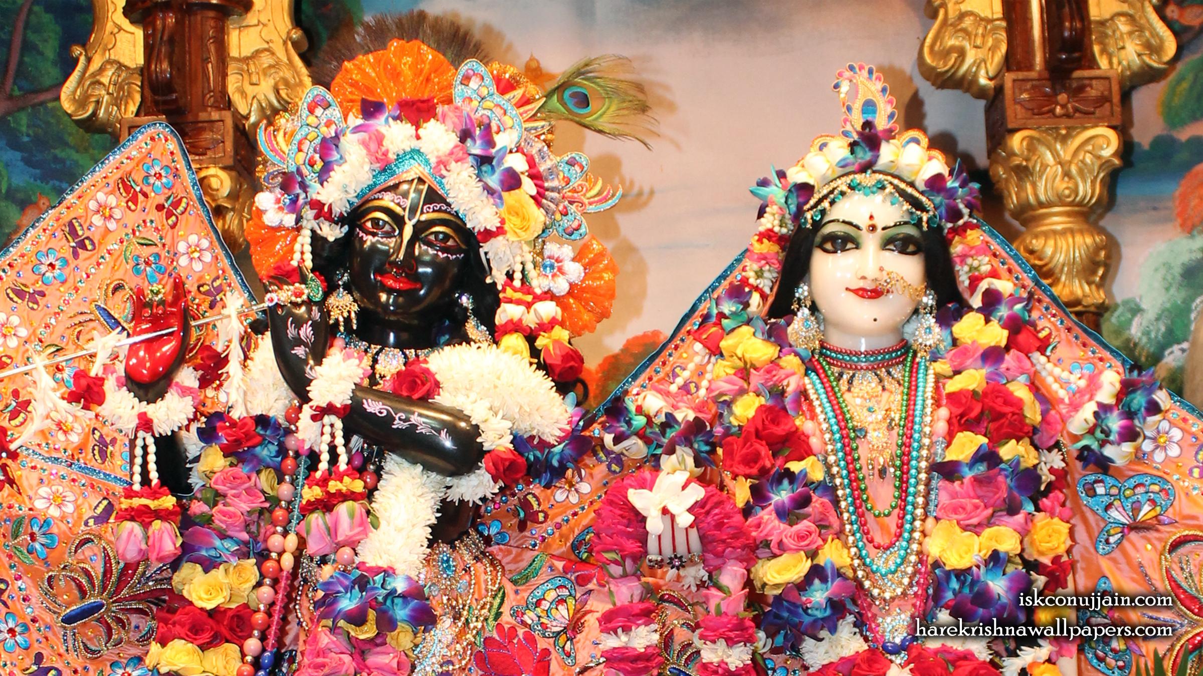 Sri Sri Radha Madanmohan Close up Wallpaper (004) Size 2400x1350 Download