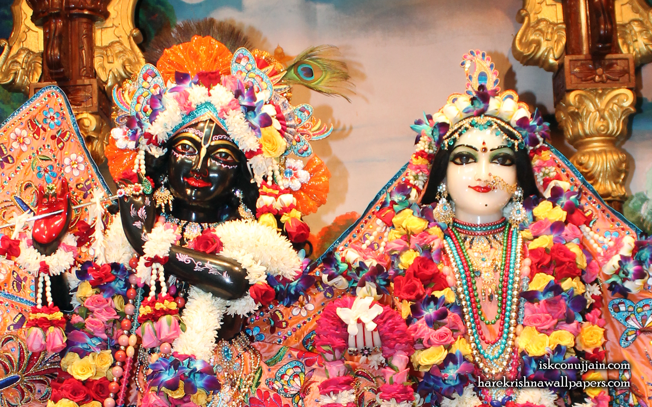 Sri Sri Radha Madanmohan Close up Wallpaper (004) Size 2560x1600 Download