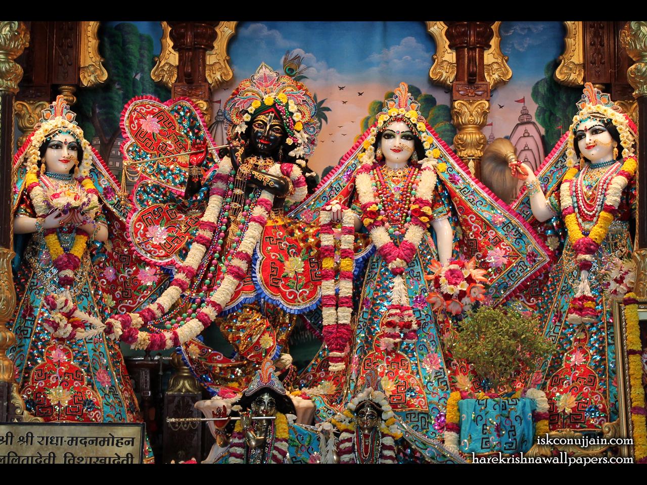 Sri Sri Radha Madanmohan Lalita Vishakha Wallpaper (004) Size 1280x960 Download