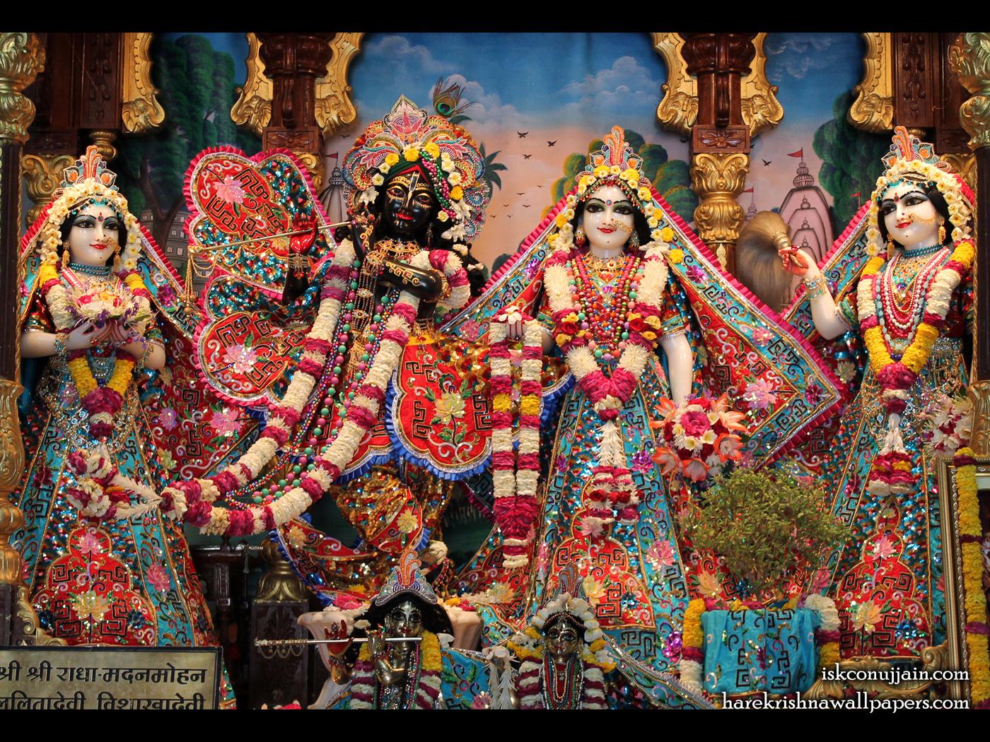 Sri Sri Radha Madanmohan Lalita Vishakha Wallpaper (004) Size 1400x1050 Download