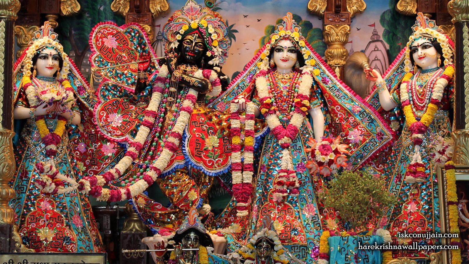 Sri Sri Radha Madanmohan Lalita Vishakha Wallpaper (004) Size 1600x900 Download