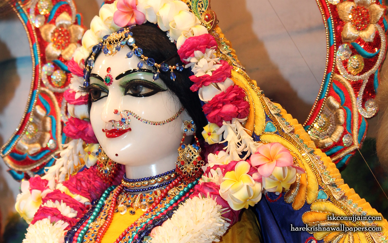 Sri Radha Close up Wallpaper (005) Size 1280x800 Download