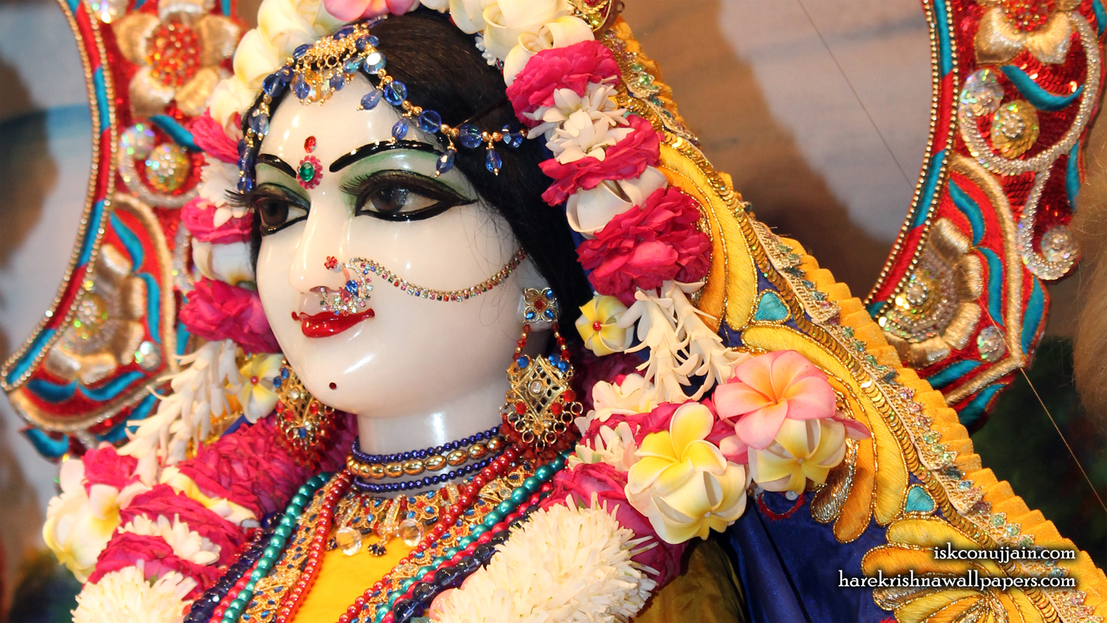 Sri Radha Close up Wallpaper (005) Size 1600x900 Download