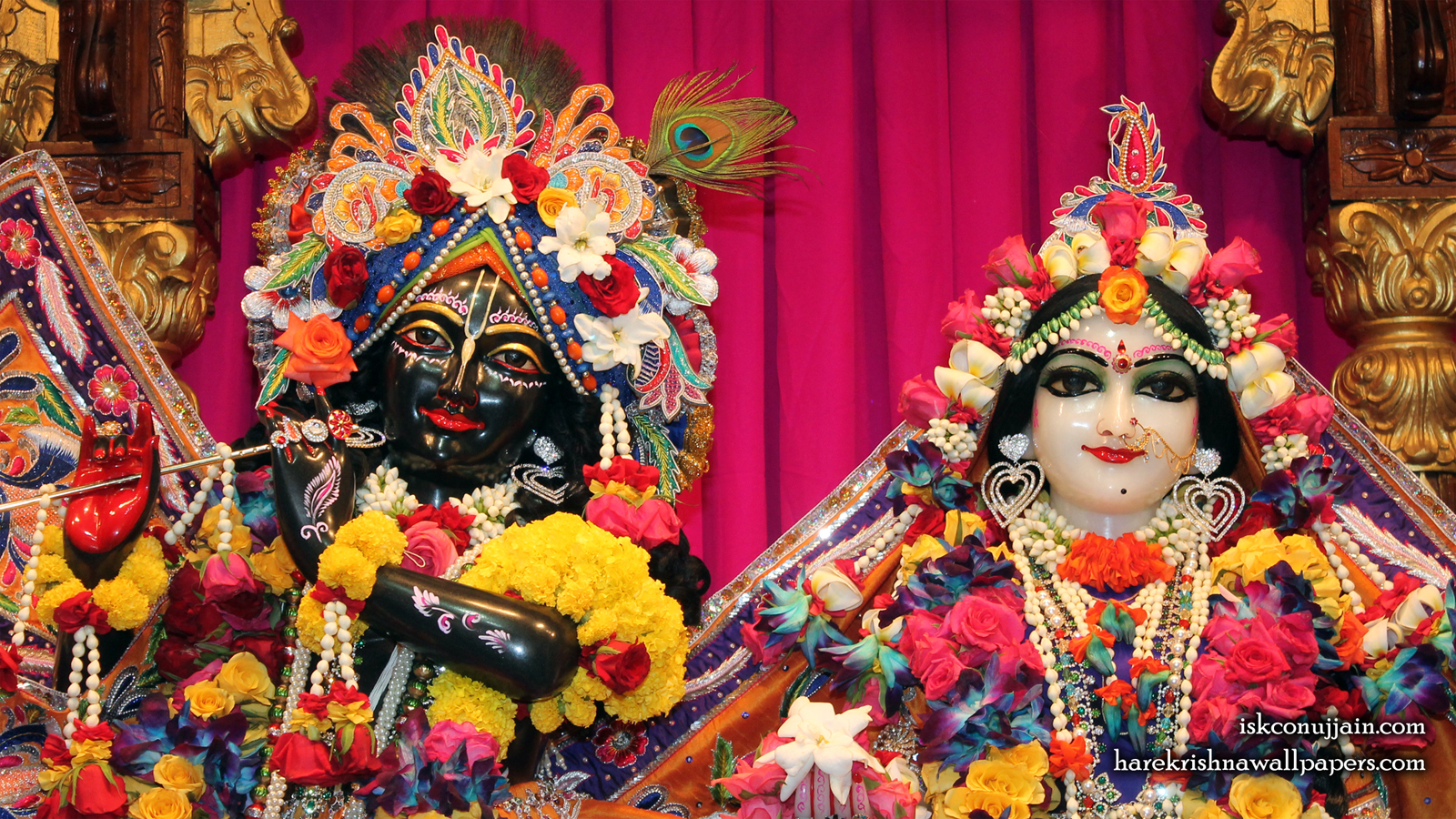 Sri Sri Radha Madanmohan Close up Wallpaper (005) Size 1600x900 Download