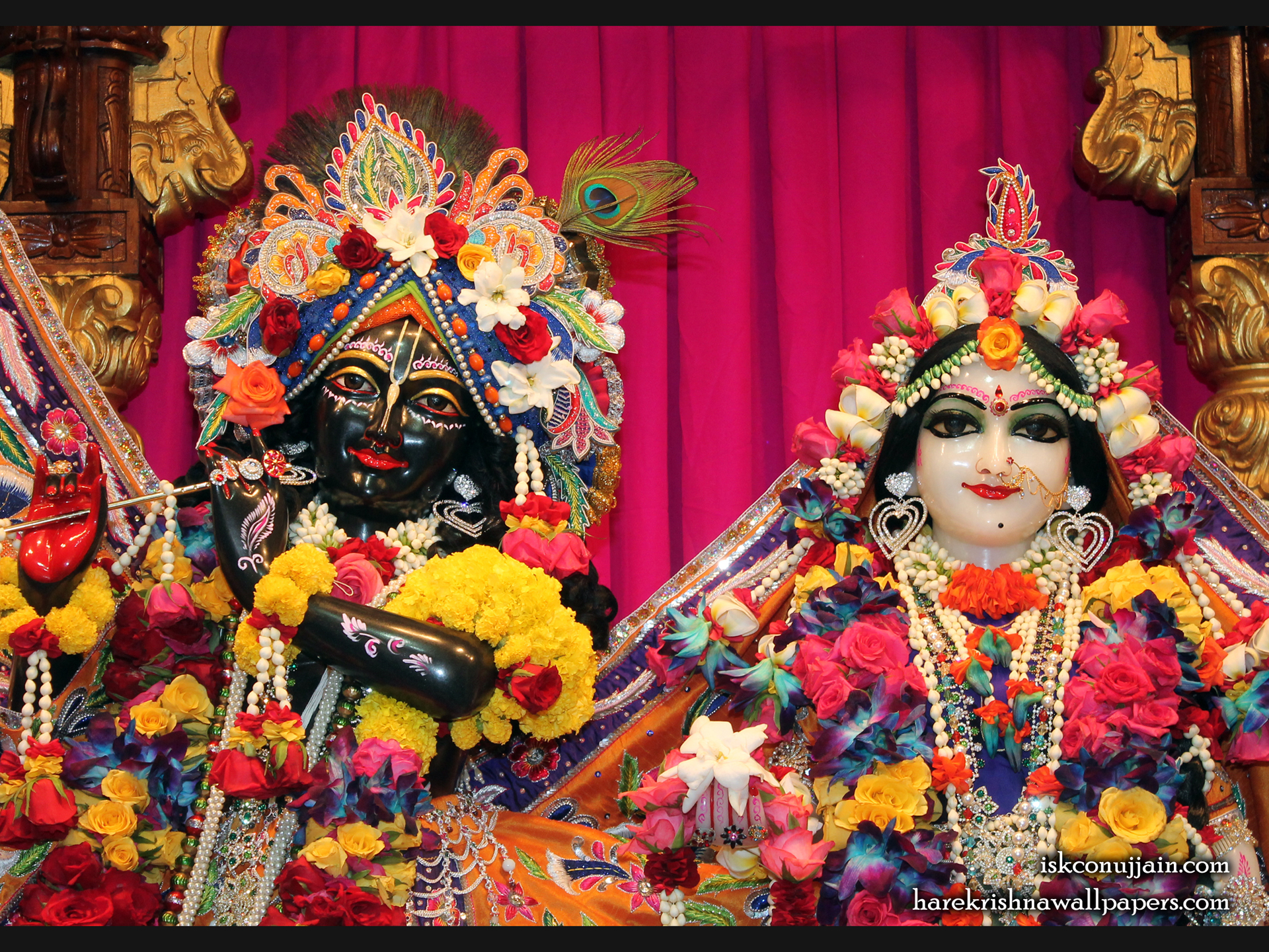 Sri Sri Radha Madanmohan Close up Wallpaper (005) Size 1920x1440 Download