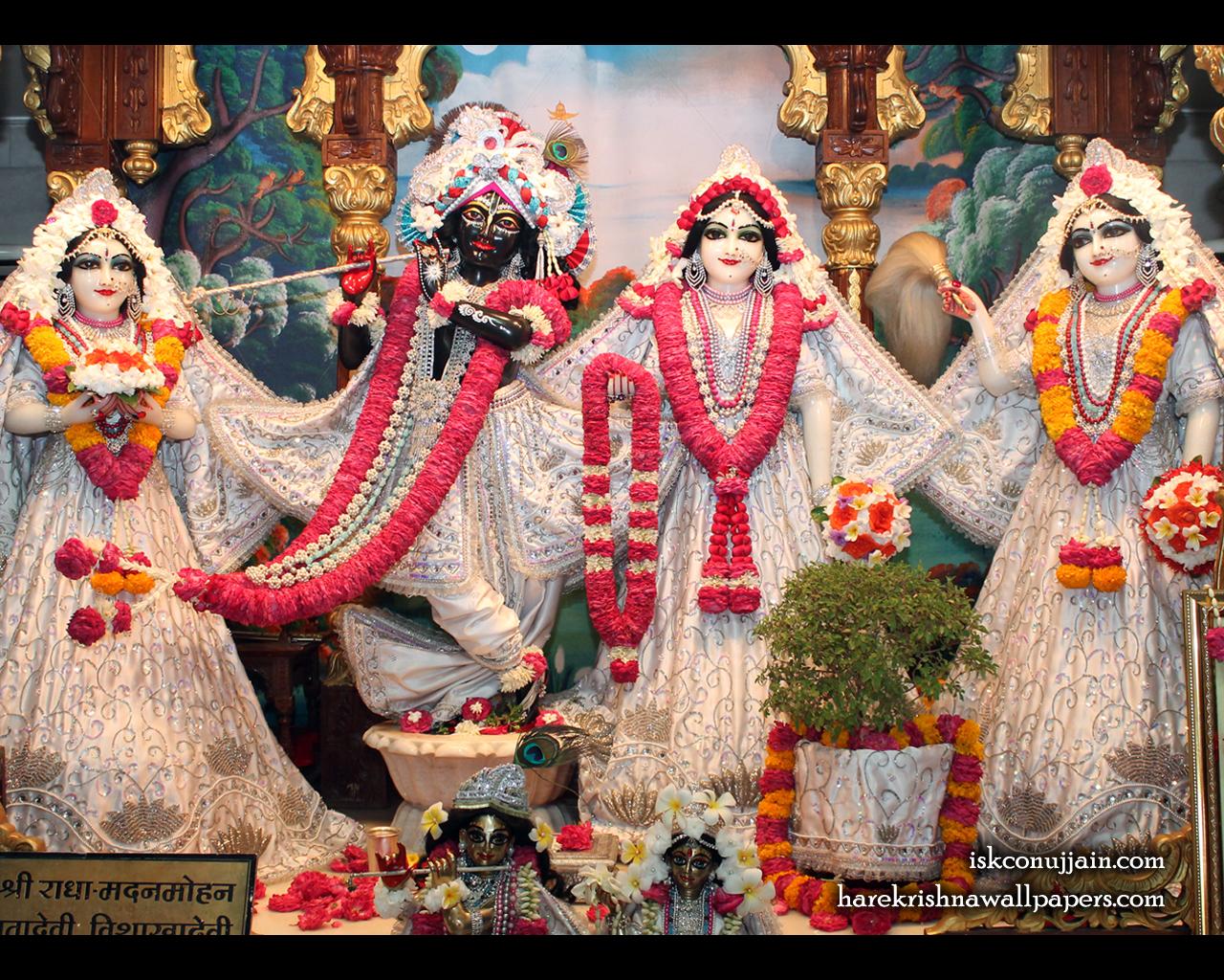 Sri Sri Radha Madanmohan Lalita Vishakha Wallpaper (005) Size 1280x1024 Download