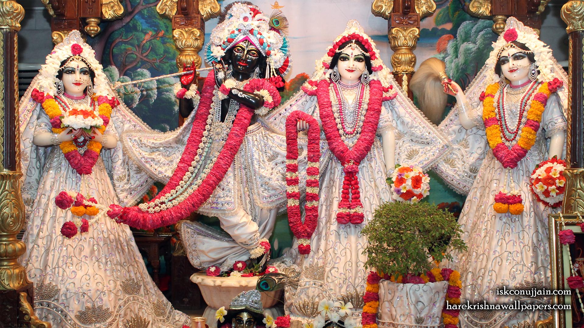 Sri Sri Radha Madanmohan Lalita Vishakha Wallpaper (005) Size 1920x1080 Download