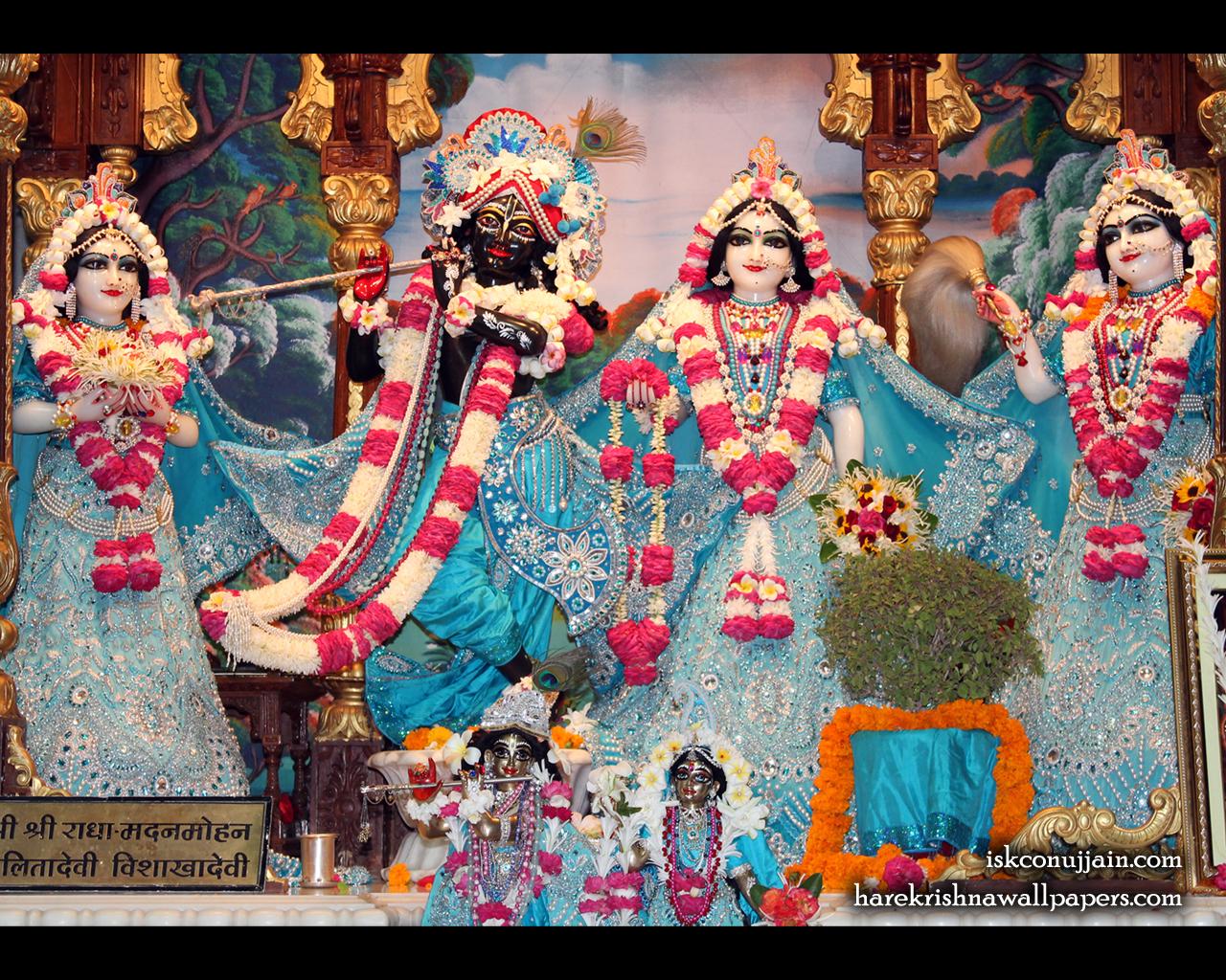 Sri Sri Radha Madanmohan Lalita Vishakha Wallpaper (006) Size 1280x1024 Download