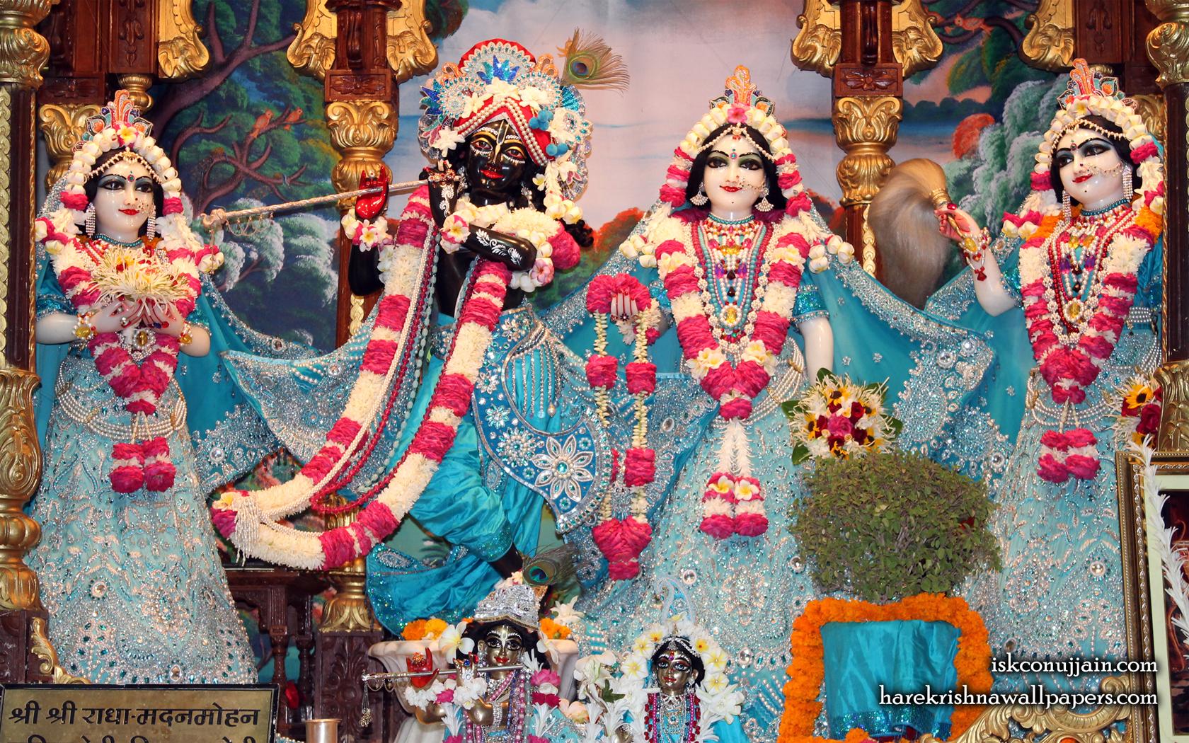 Sri Sri Radha Madanmohan Lalita Vishakha Wallpaper (006) Size 1680x1050 Download
