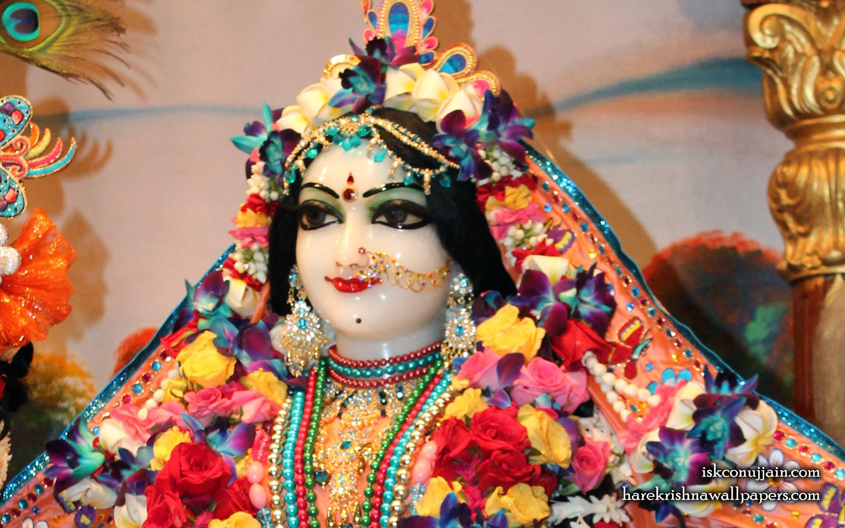 Sri Radha Close up Wallpaper (007) Size 1680x1050 Download