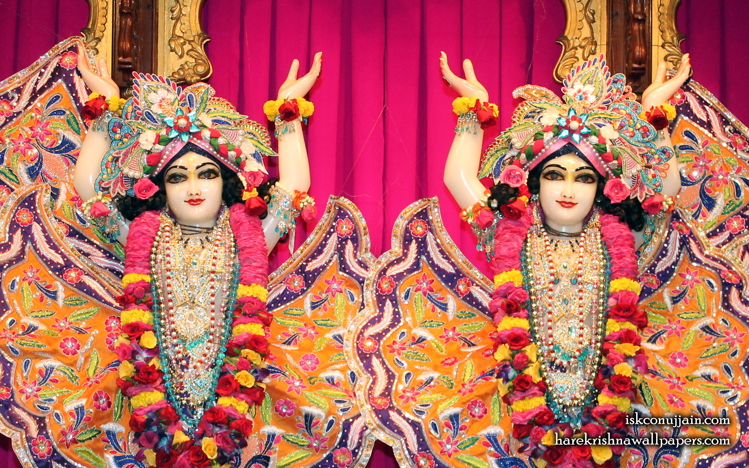 Sri Sri Gaura Nitai Close up Wallpaper (007) Size 2560x1600 Download